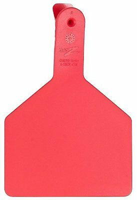 Z Tags 25 Count 1-Piece Blank Tags for Cows, Red