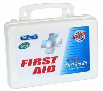PhysiciansCare First Aid Kit for up to 25 People Contains 303 Pieces