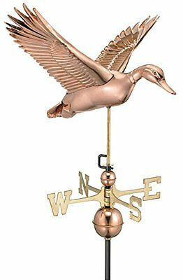 Good Directions 9613P Flying Duck Weathervane, Polished Copper