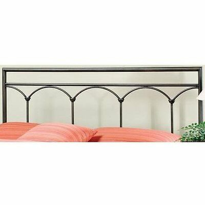 Hillsdale Furniture 1092HFR McKenzie Headboard with Rails, Full, Brown Stee