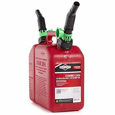 Briggs & Stratton 85310 2-Compartment 1-1/2 Gallon Gas and 2-1/2 Quart Oil
