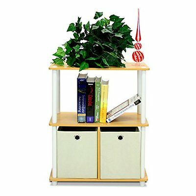 Furinno 99152BE/WH/IV 3-Tier Go Green Multipurpose Storage Rack Shelving Un
