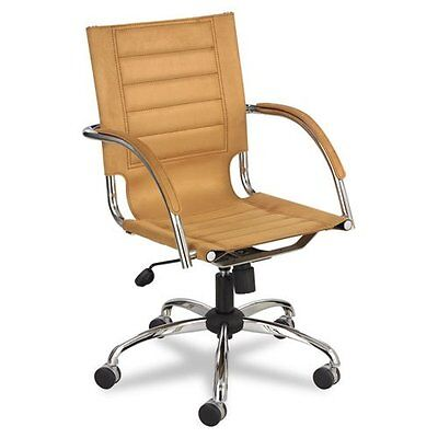 Safco Flaunt Managers Chair Camel Micro Fiber