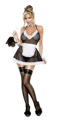 Hot Angel Chamber Maid One Size Black