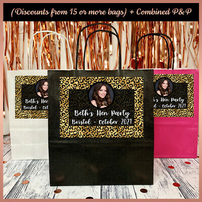Personalised LEOPARD PRINT PARTY Gift BAGS