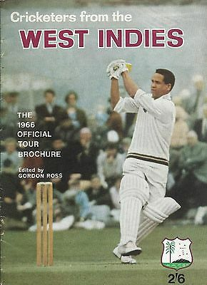 Cricket,west Indies, 1966 Official Tour Brochure, Edited By Gordon Ross