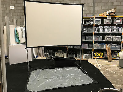 Da-Lite fastfold projection screen projector surface portable AV stage 8 x 6