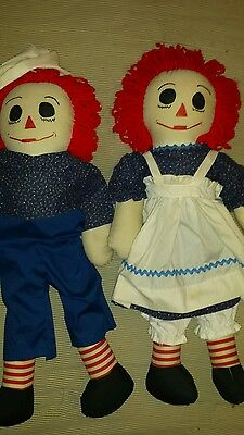 "22"" Raggedy Ann And Andy Homemade"