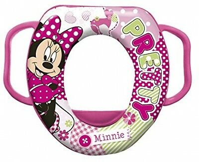 Disney Baby Minnie Mouse Soft Padded Toilet Training Seat With Handles
