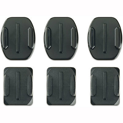 Motorcycle GoPro Flat and Curved Adhesive Mounts Black UK Seller