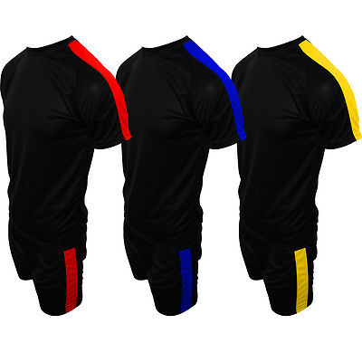 Mens Kids Football Sports Training Kit Shirt Shorts Set 5 A Side