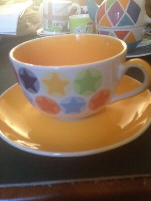 Large Whittard Stars Cup And Saucer