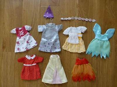 7 X Angelina Ballerina Toy Dolls Dresses Outfits Clothes-Lot-Bundle