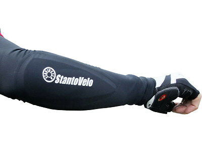 Cycling arm warmers Bike elbow guards L black armour padded Protector Assos
