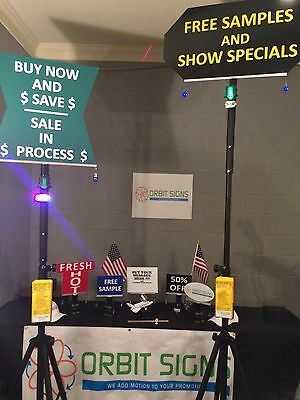 Rotating Signs.Trade Shows.Lights & Lasers.Low Cost. High Impact.Display Signs.