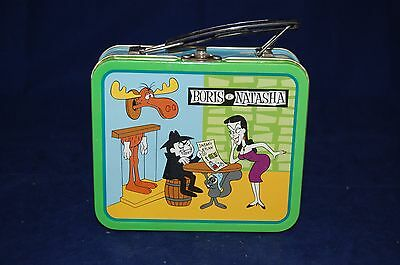 The Adventures of Rocky and Bullwinkle Borris and Natasha Tin Lunchbox 1997