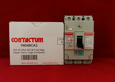 Contactum 1N040Ca3 40A 3 Pole Mccb Trip Switch Fuse Breaker
