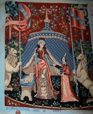 """Completed NEEDLEPOINT CANVAS Tapestry Unframed  19 ½"""" x 16""""  2160"""