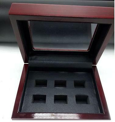 High Quality 3 4 5 6 Hollow World Championship Ring Set Solid Wooden Display Box