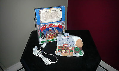 Noma Dickensville Collectables Porcelain lighted house Rare Orange Barn MIB
