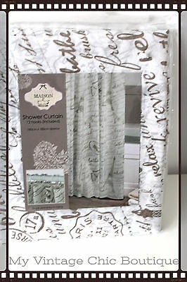 Vintage Shabby Chic French Parisienne Shower Curtain