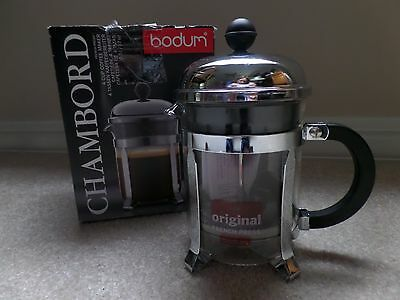 New Bodum Chambord 4 Cup French Press in Original Box No. 1924 Glass & Stainless