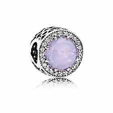 Pandora sterling silver S925 ALE  Radiant Hearts opalescent pink crystal Charm