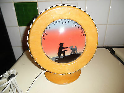 Art Deco Childs? Wire Fox Terrier Lamp