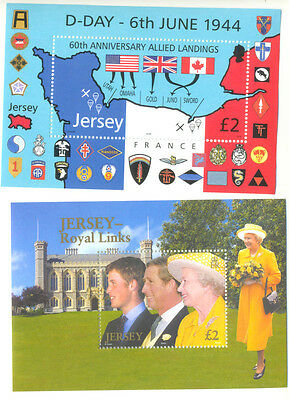 Jersey Royal Links and D-day min sheet mnh