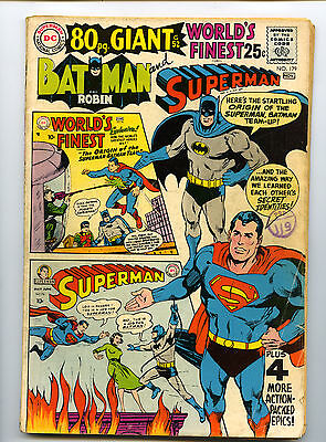 WORLD'S FINEST COMICS No 179  Silver Age 80PG GIANT 1968