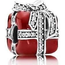 Authentic Pandora sterling silver S925 ALE  Gift Zirconia  Charm