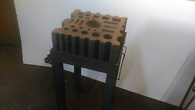 Blacksmiths Swage Block with Fabricated Stand
