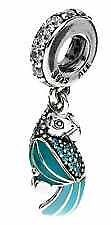Authentic Pandora sterling silver S925 ALE Tropical parrot with mixed charm