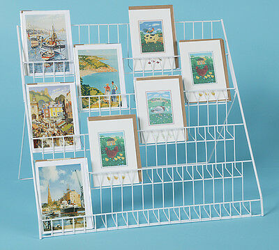 Lightweight collapsible greeting card display stand - ideal for mixed sizes