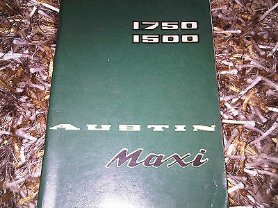 Austin Maxi 1750 1500 Drivers Owners Handbook Instruction Guide Manual