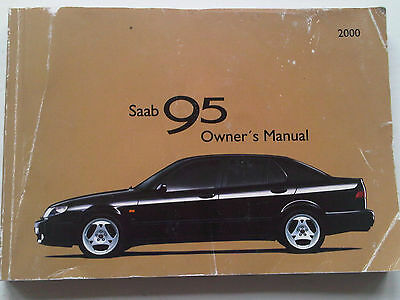 SAAB 95 9-5 9 - 5 Owners Driving & Maintenance Handbook Guide Manual m/y 2000