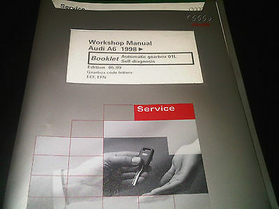 Audi A6 1998 on Factory Workshop Manual Automatic Gearbox 01L self-diagnosis