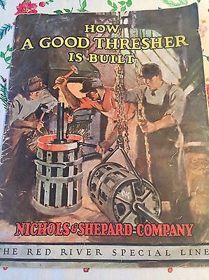 1926 Nichols & Shepard Thesher Tractor Catalog Vintage Farm Implements