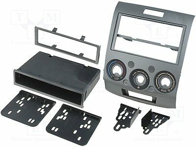 1 pc Radio mounting frame; 2 ISO; Ford, Mazda; silver