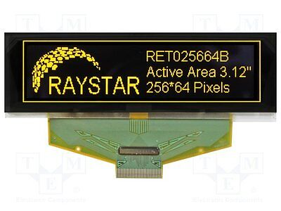 1 pc Display: OLED; graphical; 256x64; Dim:88x27.8x2.05mm; yellow