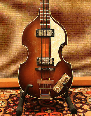 Vintage 1965 1966 Hofner 500/1 Violin Beatle Bass Guitar 100% Original