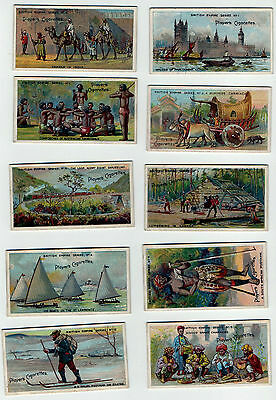 1904 JOHN PLAYER BRITISH EMPIRE SERIES(50 CARDS)(used,good for age)