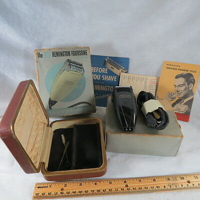 The New Remington Foursome Electric Shaver Model No. 78 Made In USA