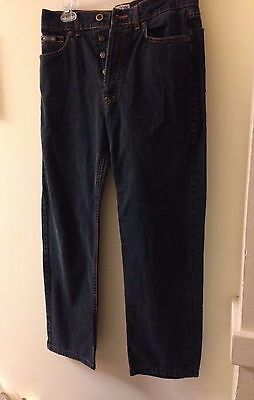 Vintage Moschino Button Up Fly Peace Sign Jeans Size 30