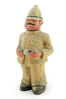 An unusual papier mache policeman. Early - mid 20th century Box