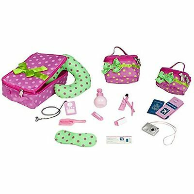 """Our Generation 18"""" Doll Luggage Travel Accessory Set Fits American Girl NO BOX"""