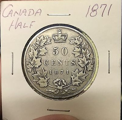 1871 50C Canada 50 Cents