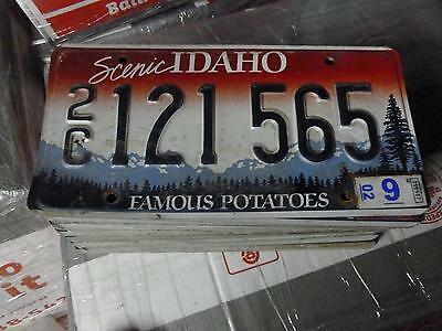 IDAHO*License Plate*2C 121565*Scenic Rocky Mountains/Trees Famous Potatoes*ORIG!