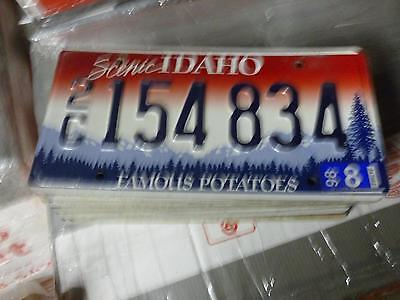 IDAHO*License Plate*2C 154834*Scenic Rocky Mountains/Trees Famous Potatoes*ORIG!