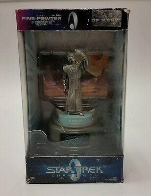 Star Trek The Motion Picture Champions Pewter Mr. Spock w/ COA 6919 of 9998 NIB